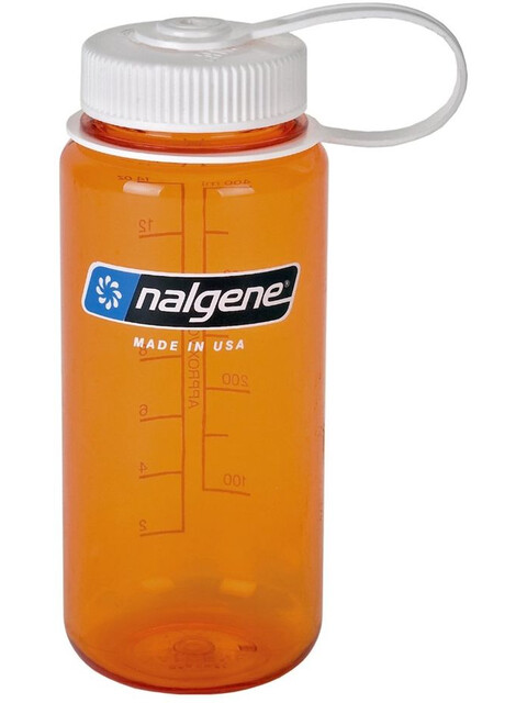 Nalgene 0,5L Wide Mouth Bottle Orange Tritan w/White Closure